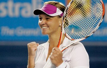ALL SMILES: Casey Dellacqua at Australian Open 2008. Picture: Getty Images
