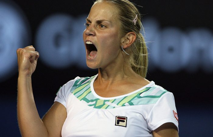 SPIRITED RETURN: Jelena Dokic celebrates during her Australian Open 2009 quarterfinal run. Picture: Getty Images