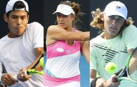 AUSSIE HOPES: Jason Kubler, Ellen Perez and Max Purcell will contest Australian Open 2021 qualifying. Pictures: Getty Images