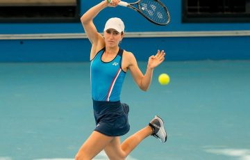 IN FORM: Alexandra Bozovic in action during a UTR Pro Tennis Series event in Sydney. Picture: Tennis Australia
