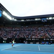 Ash Barty in action at Australian Open 2020; Getty Images