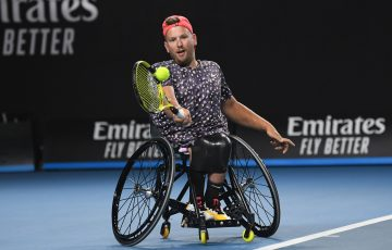 CHAMPION: Dylan Alcott in action at Australian Open 2020. Picture: Getty Images