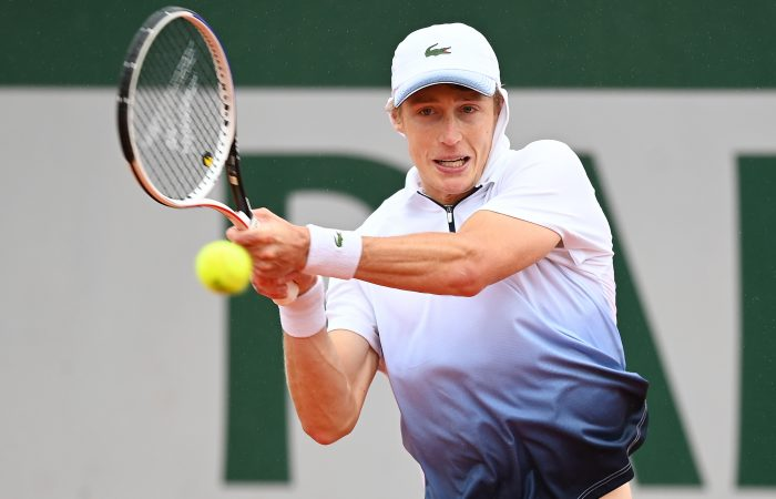 ON THE RISE: Marc Polmans in action at Roland Garros earlier this year. Picture: Getty Images