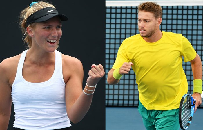 NEW HIGHS: Maddison Inglis and James Duckworth both achieved career-high rankings in both singles and doubles in 2020. Pictures: Getty Images