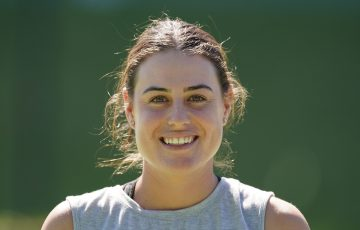 Kim Birrell at a practice session at Xavier College. Picture: Scott Barbour, Tennis Australia