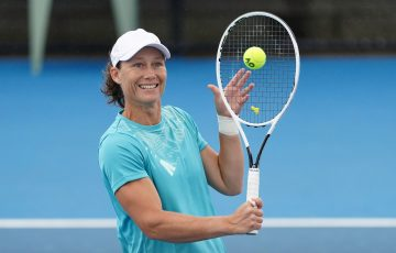Sam Stosur during an Australian Open 2021 practice session. Picture: Scott Barbour, Tennis Australia