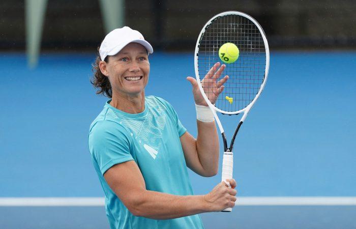 Sam Stosur during an Australian Open 2021 practice session. Picture: Scott Barbour, Tennis Australia