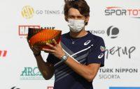 CHAMPION: Alex de Minaur with his Antalya Open trophy. Picture: Antalya Open