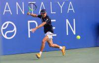 Australia's Alex de Minaur in action at this week's Antalya Open. Picture: Antalya Open