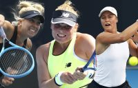 AUSSIE HOPES: Abbie Myers, Charlotte Kempenaers-Pocz and Ivana Popovic. Pictures: Getty Images