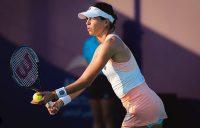 ON SERVE: Ajla Tomljanovic competing in Abu Dhabi. Picture: Instagram