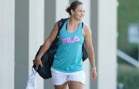World No.1 Ash Barty ahead of a practice session in Melbourne.