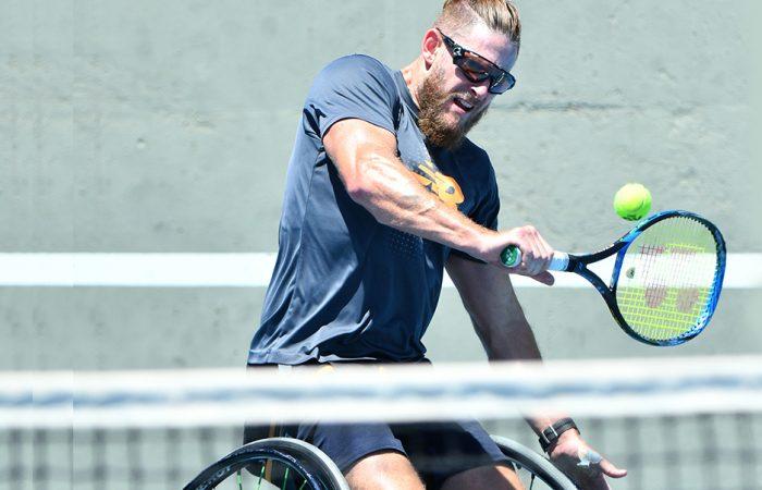 Ben Weekes preparing for Australian Open 2021. Picture: Tennis Australia
