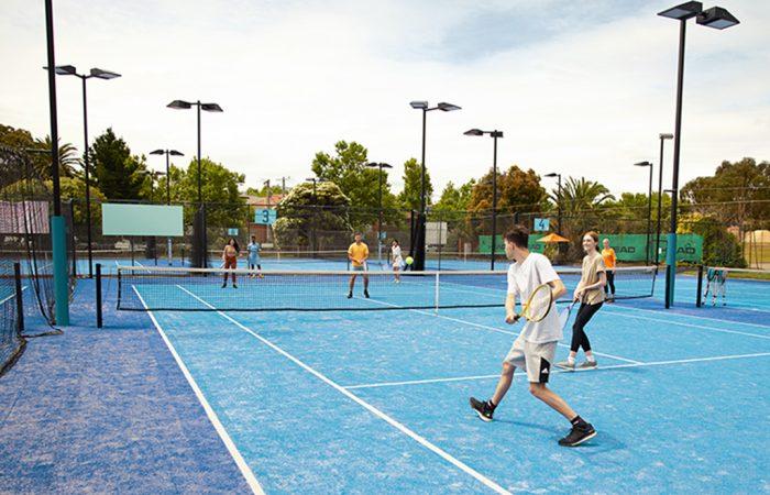 Participants at Elsternwick Park Tennis Centre