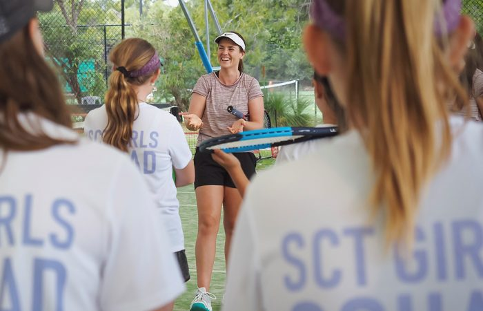 DELIVERED WITH A SMILE: Emily Burns is enjoying inspiring the next generation as a coach.