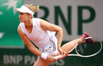 NEW FOCUS: Jessica Moore, pictured at Roland Garros in 2019, is now working as a Tennis Australia Scholarship Coach. Picture: Getty Images