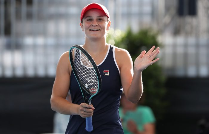 Ash Barty during the Adelaide International in 2020. Picture: Getty Images