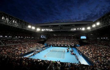 SPECTACULAR: John Cain Arena at Australian Open 2020. Picture: Getty Images