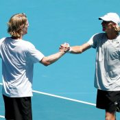 Luke Saville and Max Purcell at Australian Open 2020; Getty Images