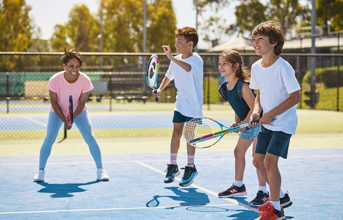 Young players enjoy time on court