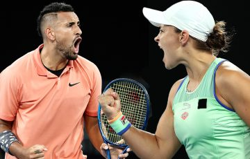 COMING BACK: Nick Kyrgios and Ash Barty will make their competitive returns in Melbourne this summer. Pictures: Getty Images