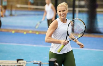 Tennis is not only good for physical health but provides a mental boost too.