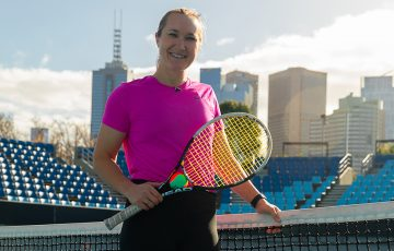 GIVING BACK: Genevieve Lorbergs is now a Scholarship Coach with Tennis Australia.