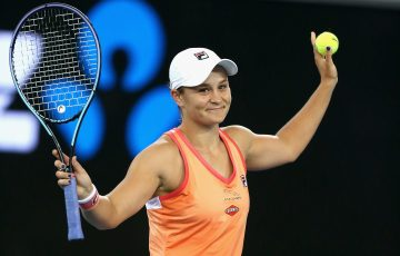 LEADING THE WAY: Ash Barty at last week's Melbourne Summer Series. Picture: Tennis Australia