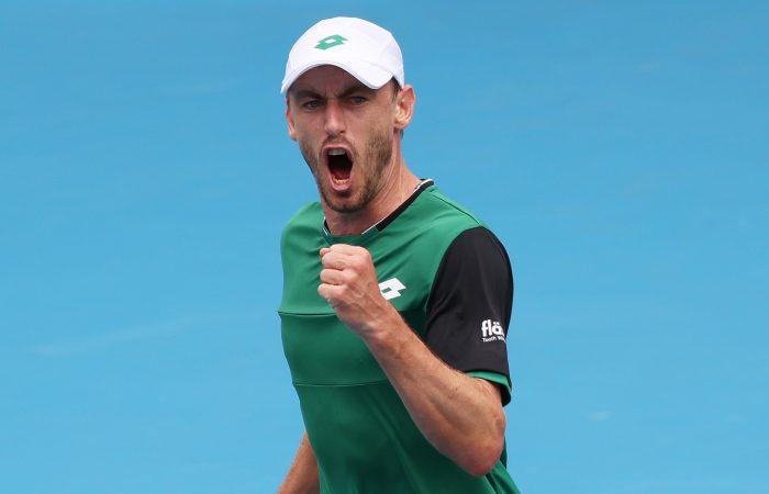 John Millman at Australian Open 2021. Picture: Tennis Australia
