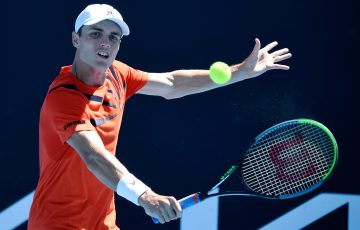BIG WIN: Australia's Christopher O'Connell recorded a career-best today at Australian Open 2021. Picture: Tennis Australia