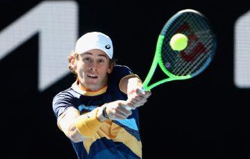 SOLID START: Alex de Minaur has won his first-round match at Australian Open 2021. Picture: Tennis Australia