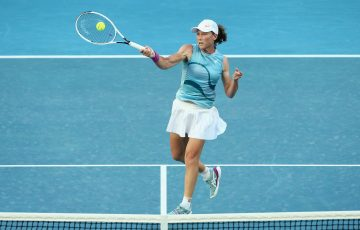 STRONG RETURN: Sam Stosur during her first-round win at Australian Open 2021. Picture: Tennis Australia