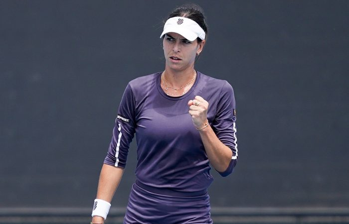 Ajla Tomljanovic in action at the Melbourne Summer Series this month. Picture: Tennis Australia