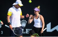 Marc Polmans and Storm Sanders at Australian Open 2021. Picture: Tennis Australia