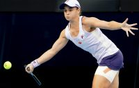 FOCUSED: Ash Barty during her fourth-round win at Australian Open 2021. Picture: Tennis Australia