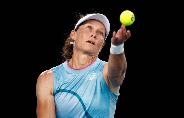 Sam Stosur in action at Australian Open 2021. Picture: Tennis Australia