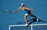 Ash Barty during her quarterfinal match at Australian Open 2021. Picture: Tennis Australia