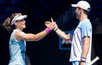ALL SMILES: Sam Stosur and Matt Ebden are enjoying a great run at Australian Open 2021. Picture: Tennis Australia