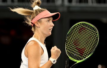 Storm Sanders at the Adelaide International. Picture: Tennis Australia