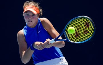 Olivia Gadecki in action at the Melbourne Summer Series. Picture: Tennis Australia