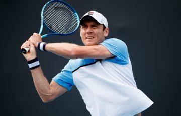 Matt Ebden in action at Melbourne Park this summer. Picture: Tennis Australia