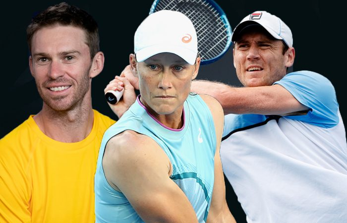 Grand Slam champions John Peers, Sam Stosur and Matthew Ebden are in action on day seven of Australian Open 2021. Pictures: Tennis Australia