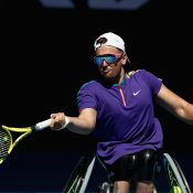 Dylan Alcott in the Australian Open quad wheelchair singles semifinal.