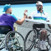 Dylan Alcott and Heath Davidson at Australian Open 2021