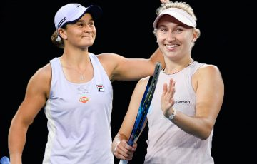 Ash Barty and Daria Gavrilova clash in an all-Australian second round at Australian Open 2021. Pictures: Tennis Australia