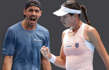 FOCUSED: Alex Bolt and Ajla Tomljanovic are hoping to upset higher-ranked opponents on day three of Australian Open 2021. Pictures: Tennis Australia