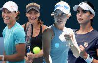 Aussie hopes Sam Stosur, Maddison Inglis, Daria Gavrilova and Ajla Tomljanovic. Pictures: Tennis Australia