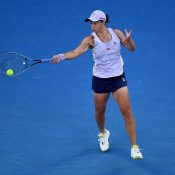 Ash Barty in action at Australian Open 2021