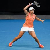 Ash Barty competes at the Yarra Valley Classic in Melbourne.