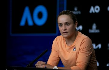 Ash Barty after her Australian Open 2021 quarterfinal.